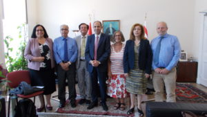 Embargoed! Team meets TRNC Deputy Prime Minister Kudret Ozersay