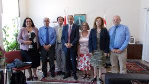 Embargoed! Team meets TRNC Deputy Prime Minister Kudret Ozersay
