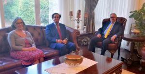Embargoed! meets President Mustafa Akinci to discuss embargoes